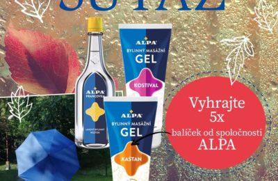 Súťaž o 5x balíček od spoločnosti Alpa