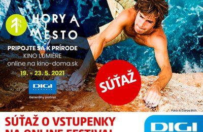 Súťaž o vstupenku na online premietanie z Festivalu Hory a mesto