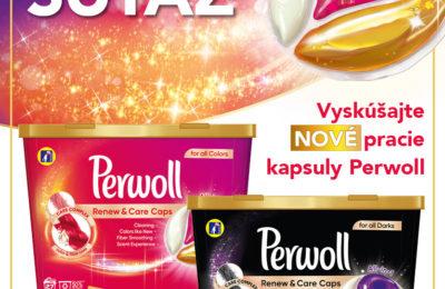 Súťaž o nové pracie kapsuly Perwoll Renew & Care Caps